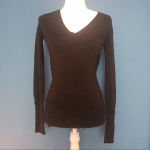 Zara Pullover Sweater Chocolate Size Small